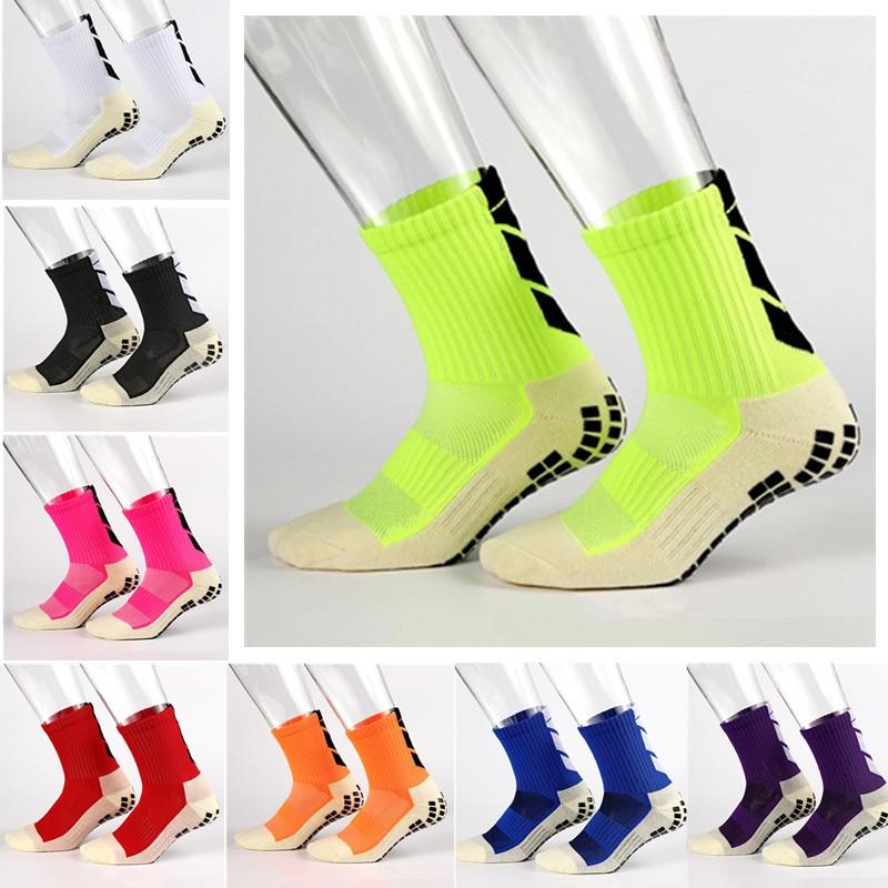 Носки для футбола, Нескользящие футбольные носки, мужские спортивные носки, хорошего качества, хлопковые носки, такие же, как Trusox, для бега, в...