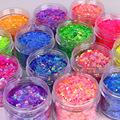 Beautiful Fluorescent Glitter Nail Sequins Super Glitter Color Glitter Powder Nail Powder Fairy Eye Beauty Decorative Nail Art