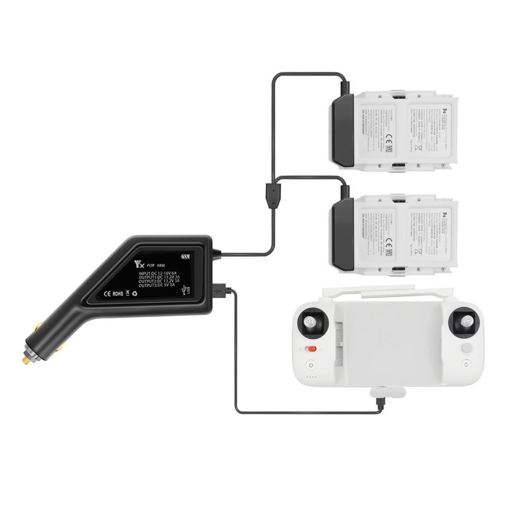 FIMI X8 SE Drone 3 en 1 chargeur de batterie avec Port USB télécommande chargeur Hub pour pour pour FIMI X8 SE chargeur de voiture accessoire