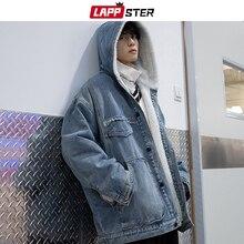 Hooded Jacket Men Streetwear Japan-Style Winter Coats Parkas Windbreaker Lambswool LAPPSTER