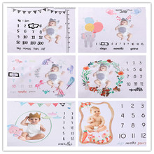 Blanket Milestone-Background-Blanket Phtography-Accessories Photo Growth Newborn-Baby