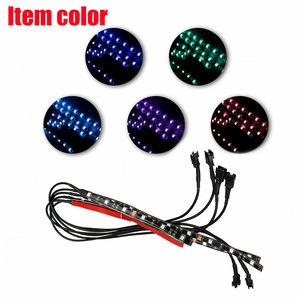 Image 4 - 6X אופנוע LED ניאון רצועת מנורת אלחוטי RGB 18 צבעים שלט רחוק תחת זוהר אורות LED רכב דקורטיבי אור רצועת ערכות