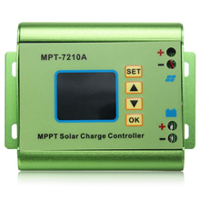 1PCS Boost Adjustable High Power Supply 10A MPT-7210A LCD MPPT Solar Panel Charge Controller Aluminum Alloy Output 15-90V 600W