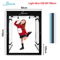 LED Photography Photo Folding Lightbox 80x160cm Black Box Tent Studio Camera Photo 4 colors Background Chromakey Table Soft Box