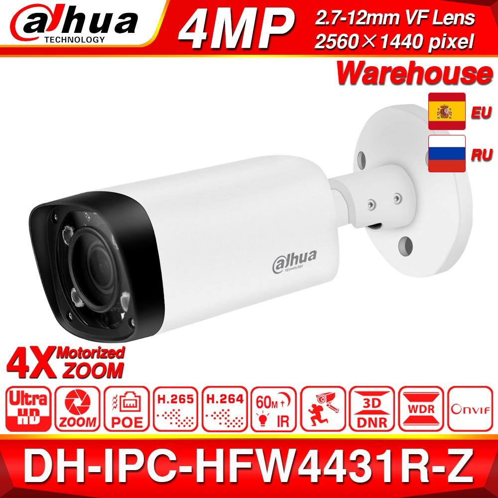 Dahua IPC HFW4431R Z 4MP kamera nocna 60m IR 2.7 ~ 12mm VF obiektyw motoryzacja Zoom automatyczne ustawianie ostrości Bullet POE kamera IP CCTV bezpieczeństwo w Kamery nadzoru od Bezpieczeństwo i ochrona na AliExpress - 11.11_Double 11Singles' Day 1