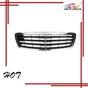 Image 1 - 2002 2003 2004 2005 2006สำหรับ Mercedes Benz E Class W211 ASSYสไตล์สีดำ/Mattสีดำด้านหน้ากันชนกระจังหน้า