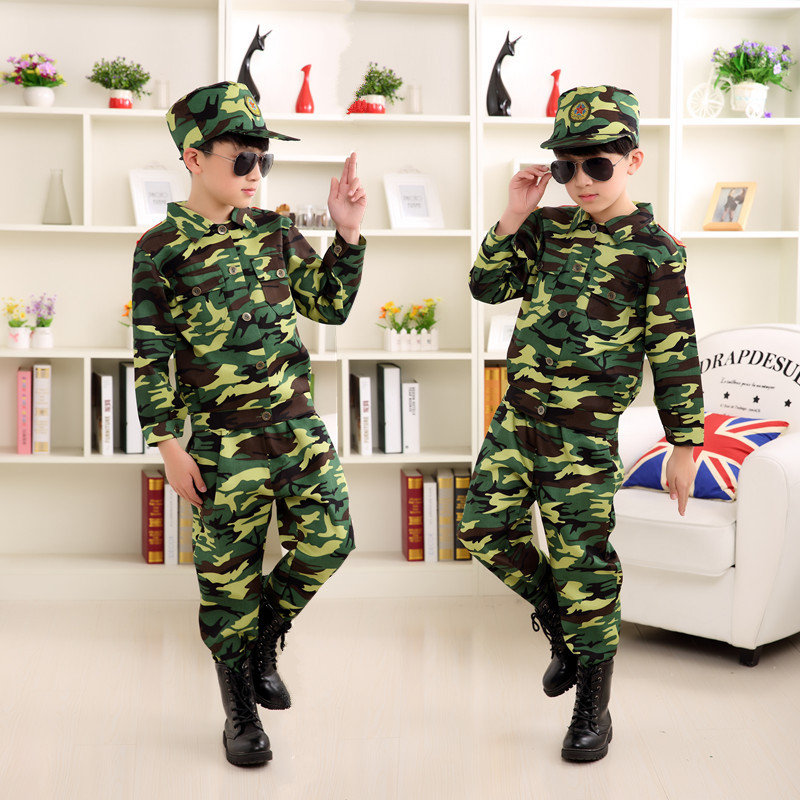 Bayi Army Day Children Camouflage Uniforms Military Training Clothes Adult Outdoor Training Costume Dance Set