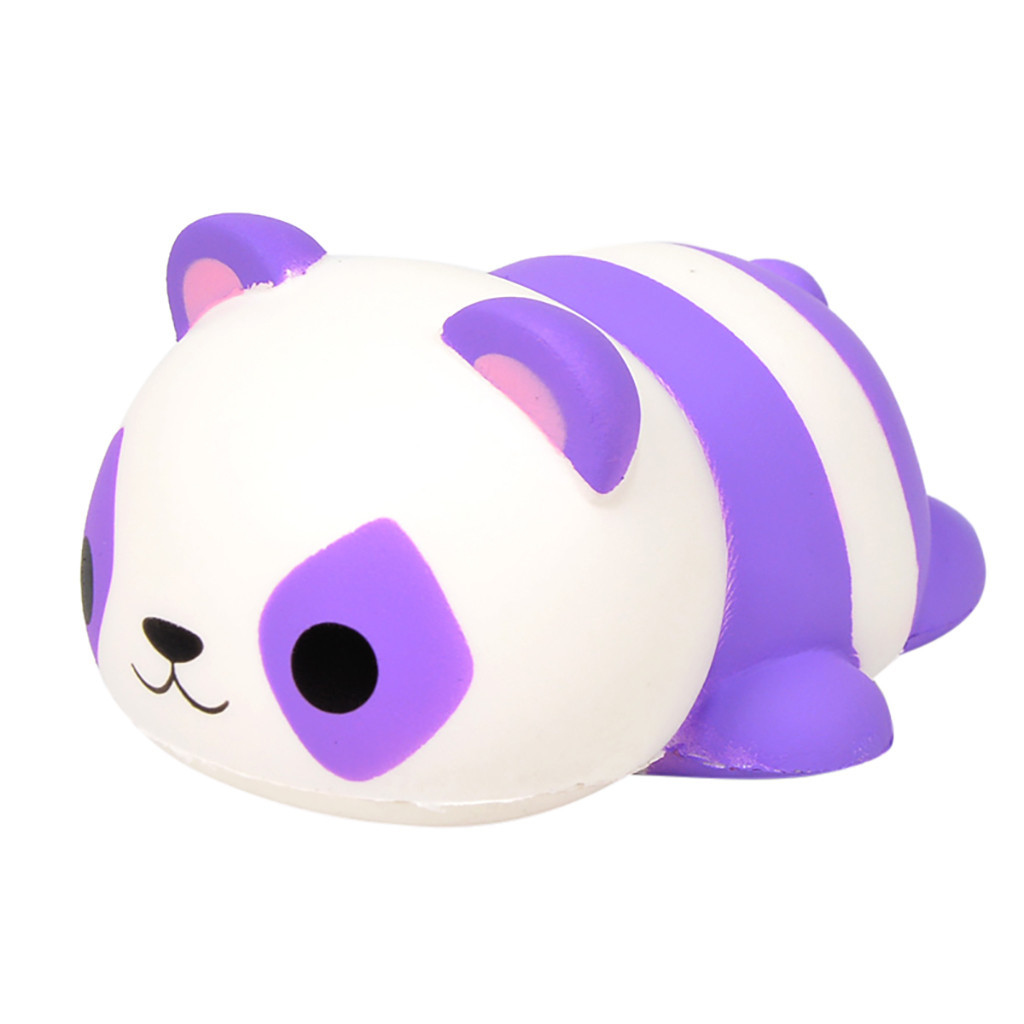 Cute Simulation Purple Panda Toy Slow Rebound Decompression Toy Birthday Gift Children's Home Decoration Creative Anxiety Toys#A
