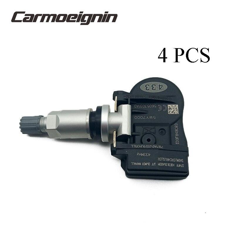 4 sztuka 56053031AD czujnik monitorowania ciśnienia w oponach TPMS dla Chrysler 200 300 Sebring dla Dodge Avenger kaliber Jounrey