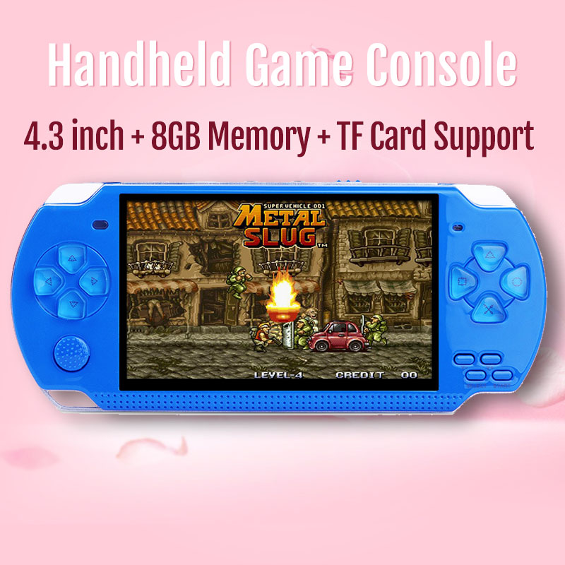 2019 New Handheld Game Console 4.3 inch In-built 8GB 10000 Retro Games For PSP/MP4 Video/MP5/Camera/E-book Portable Game Console image