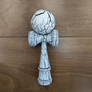 Image 4 - 18CM Riss Farbe Holz Kendama Ball Geschickte Jonglierball Spielzeug Japanischen Traditionellen Zappeln Ball Kinder Erwachsene Freizeit Sport Geschenk