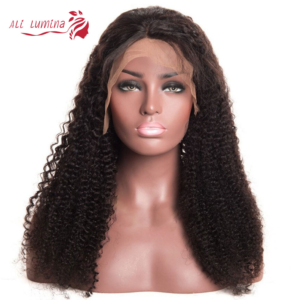 13x4 Curly Lace Front  Wigs  Jerry Curly Long 30 Inch Prelucked 4x4 Glueless Deep Wave Lace Closure Wig 1