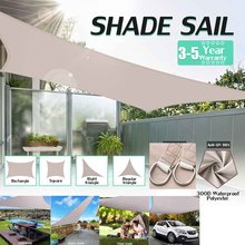 Toldo à prova d'água para proteção do sol, guarda-sol para piscina, jardim, pátio, sombra, pano grande