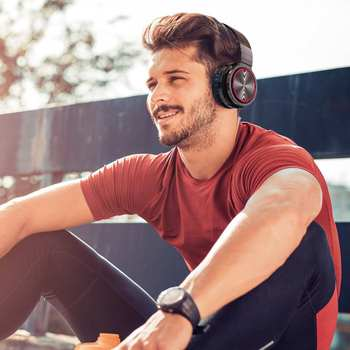 BlitzWolf AIRAUX AA-ER1 bluetooth Wireless Headphones HiFi Stereo Music Headset RGB HD Call TF Card Earphone for PC Computer 6