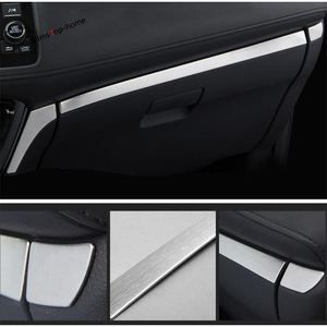 Image 5 - Interior Em Aço Inoxidável Para Honda HR V Yimaautotrims/Vezel 2014   2020 Instrumento Painel painel Esfregar Tira de Cobertura Guarnição