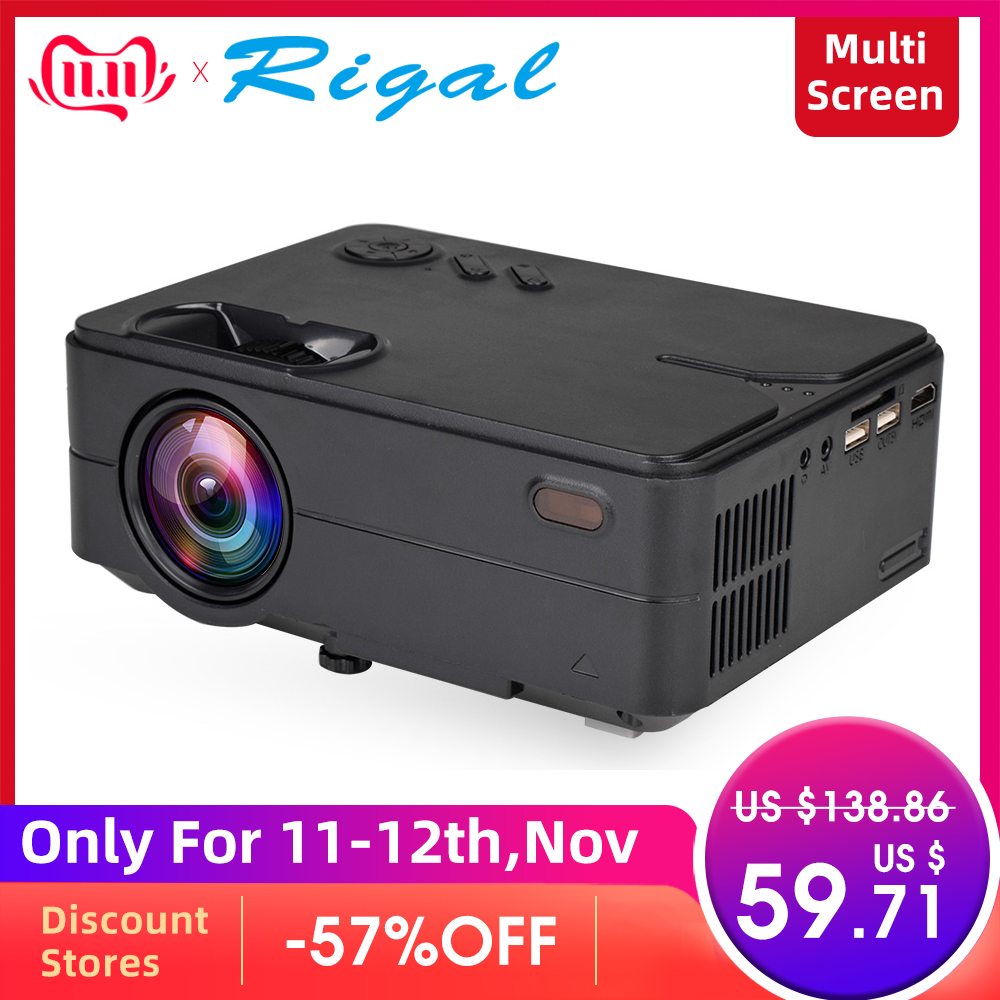 Rigal RD813 Mini Led Projector WiFi Multi Screen Proyector 2000 Lumen Portable Home Cinema Theater Smart 3D Movie HD Projector-in LCD Projectors from Consumer Electronics
