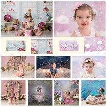 Bolo recém nascido quebra fotografia pano de fundo 7x5ft chuveiro do bebê crianças festa de aniversário decoração fundo para photo studio photozone adereços