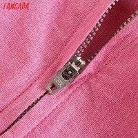 Tangada Summer Women Solid Pink Backless Mini Dress Strap Adjust Sleeveless 2021 Fashion Lady Sundress 3H375 4