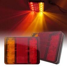 Apair von auto LED rückleuchten 12V hohe helligkeit wasserdichte lkw rückleuchten anhänger lkw signal lichter caravan camperATV bus