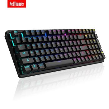 RedThunder Red Switch Mechanical-Keyboard 98-Key New Layout Gaming-Keyboard Up to 15 Cool Lighting Effects Designed for Games 1