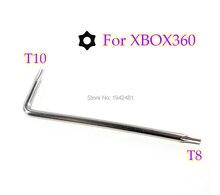 200Pcs 2 In 1 T8 T6 T10 Torx Schroevendraaier Schroevendraaier T8 Beveiliging Schroevendraaier Voor Xbox 360 Xbox Een Controller L Sleutel Schroevendraaier