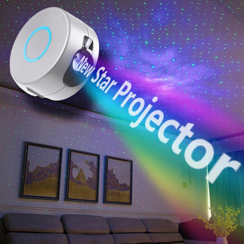 Proyector de galaxia LED con enchufe de la UE, proyector de cielo estrellado, para familia, fiestas, cine, luz nocturna colorida, lámpara de noche de estrellas para dormitorio infantil Lámpara led Gauss led primaria gx53 9W 4100K 1/100 de 83829