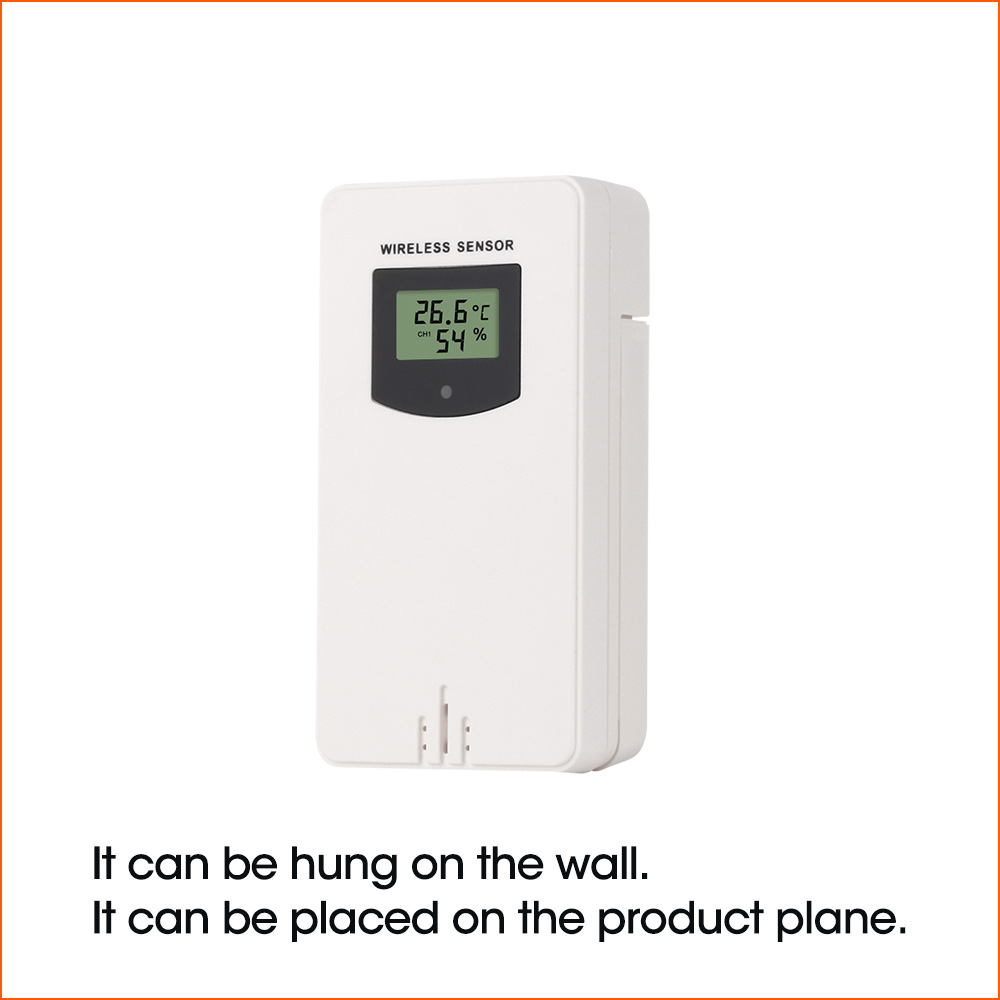 Image 2 - RZ Weather Station Wireless Multifunction Indoor Outdoor Sensor  Thermometer Hygrometer Digital Alarm Clock Barometer  ForecastTemperature Instruments
