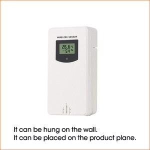 Image 2 - RZ Погодная станция беспроводной Многофункциональный Крытый Открытый датчик термометр гигрометр Цифровой Будильник Барометр Прогноз