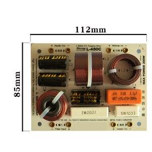 Image 2 - HIFIDIY L 480C en vivo de 3 vías, 4 altavoces, tweeter + mid + 2 * bass, HiFi, divisor de frecuencia de audio, filtros cruzados