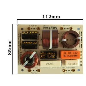 Image 2 - HIFIDIY canlı L 480C 3 yollu 4 hoparlör ünitesi (tweeter + orta + 2 * bas) hiFi hoparlörler ses frekans bölücü Crossover filtreler
