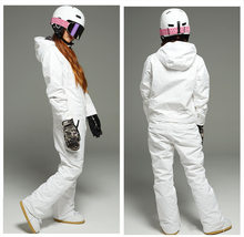 new winter snowboard kombez ski jacket and pant ski suits females jumpsuit women snowboard waterproof overall Russia(China)