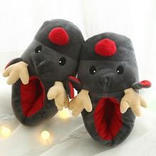Para zima miękkie pantofel kobieta buty szczęśliwego nowego roku boże narodzenie Deer kapcie z bawełny słodkie pluszowe bawełniane buty kobieta ботинки женск tanie tanio MUQGEW Flock Mieszkanie z Gumowe Kryty Krótki pluszowe Płytkie woman slipper Niska (1 cm-3 cm) Pasuje prawda na wymiar weź swój normalny rozmiar