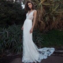 Verngo robe De mariée sirène, robe De mariée élégante, dos nu, style Boho, en dentelle avec des applications, 2020