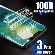 3Pcs Screen Protector For Huawei P20 P30 Pro P Smart 2019 Hydrogel Film For Huawei Mate 20 30 Lite P20 Full Soft Film Not Glass(China)