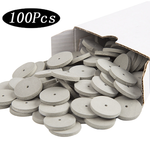 Image 3 - 100Pcs Diverse Dental Lab Polijsten Wielen Burs Siliconen Rubber Polijstmachines 5 Kleuren
