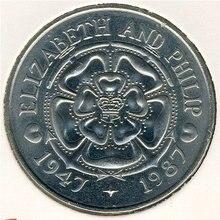 цена на 38mm Tristan Da Cunha 1987 50p 100% Real Original Coins Currency Coins Unc