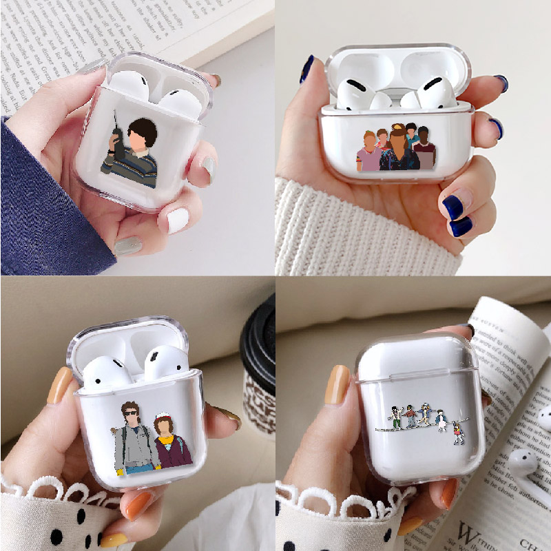 Stranger Things Eleven Earphone Case For Apple iPhone Charging Box For AirPods Pro Hard Transparent Protective Cover Accessorie