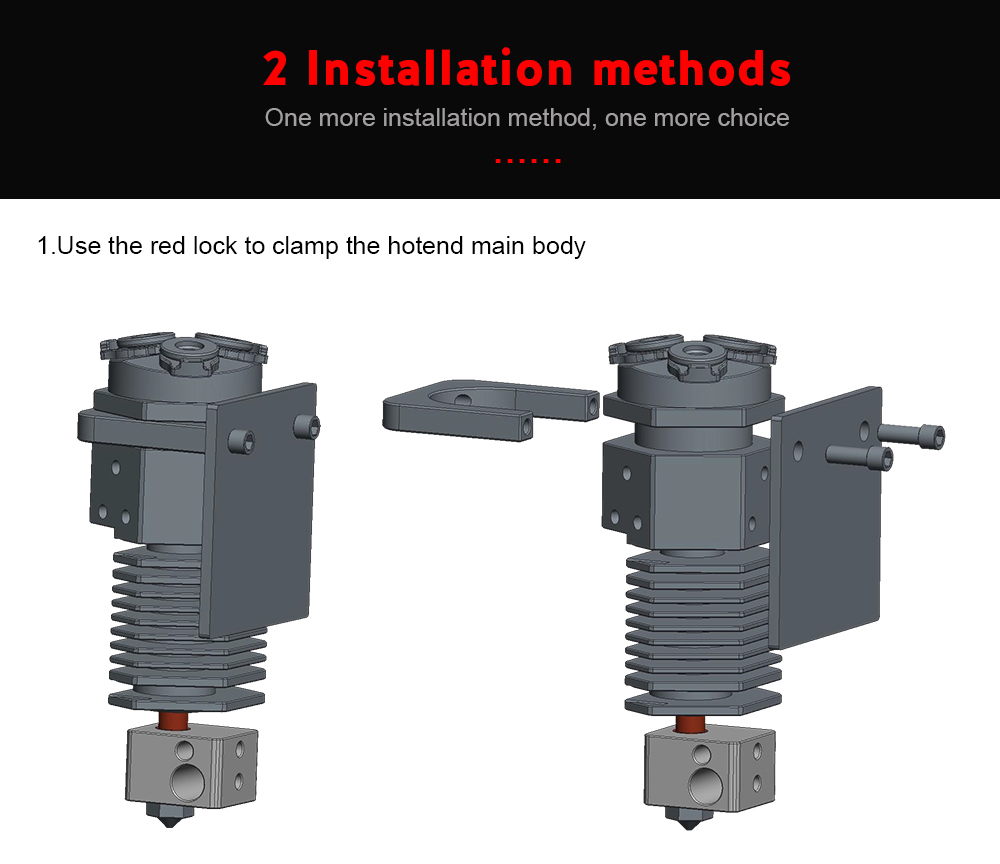 3-In-1 Out Hotend with Three Color Switching as 3D Printer Parts For Titan MK8 Bowden Extruder