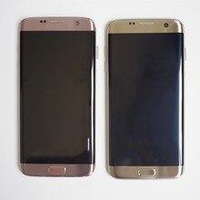Oryginalny SUPER AMOLED ekran LCD do Samsung Galaxy S7 krawędzi ekran G935 SM G935F wyświetlacz LCD dotykowy Digitizer montaż z ramą