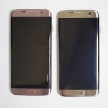 삼성 갤럭시 S7 가장자리 화면 G935 SM G935F LCD 디스플레이 터치 디지타이저 어셈블리에 대 한 원래 슈퍼 AMOLED LCD 화면