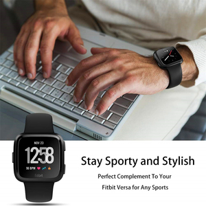 Image 5 - Smart Watch Strap For Fitbit Versa Band Silicone Replacement Quick Release Wristband Bracelet Band For Fitbit Versa 2