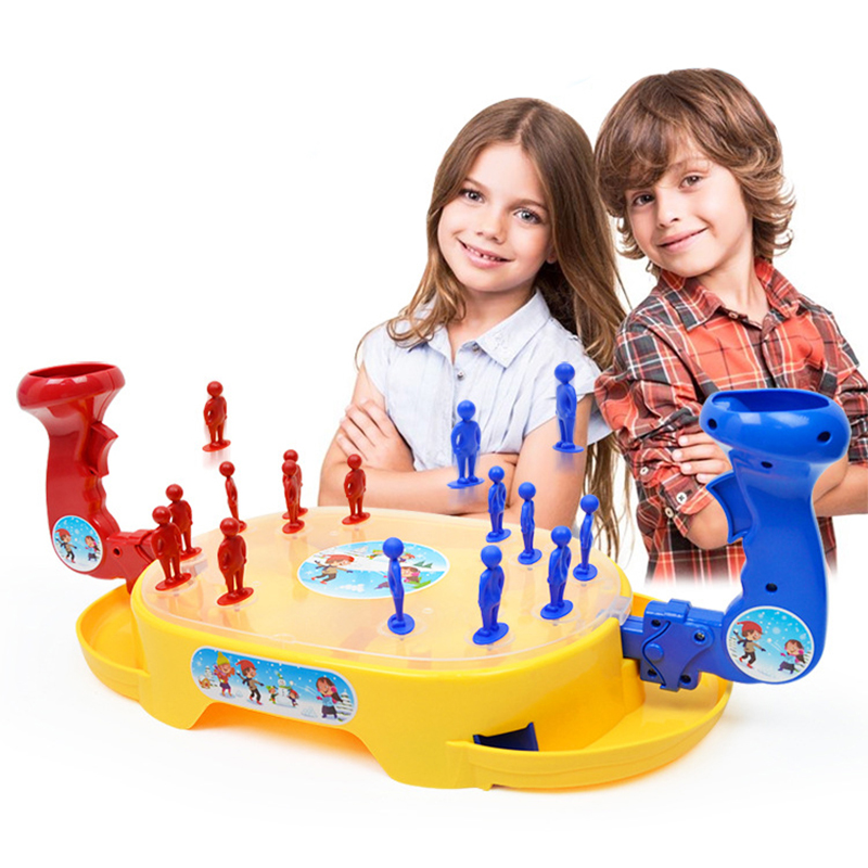 Kids Toys Ball Shoot Battle Bullet Game Machine Educational Interaction Toy Battle Pinball Game Machine Snowman On Player Game image