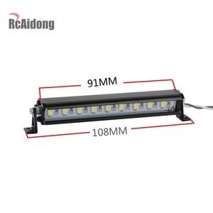 Image 2 - 1/10 RC Crawler Metal 9 LED Light Bar Kit FOR Traxxas Trx4 TAMIYA CC01 Axial SCX10 D90 D110 90046