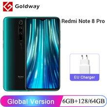 Versão global xiaomi redmi nota 8 pro 6gb 64gb 128gb 64mp quad câmera smartphone helio g90t octa núcleo 4500mah bateria nfc