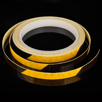 1cm*8m  DIY Car Decoration Yellow Red Reflective Rim Tape Stripe Wheel Auto Reflective Decal Sticker for Car/Truck/Motorcycle 1cm 8m lattice reflective tape sticker car styling vehicle truck motorcycle bicycle fence safety warning strip diy decal