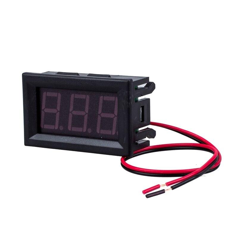 2 Wire Blue DC 4.5-30V LED Panel digital display Voltage Meter Voltmeter