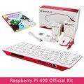 Raspberry Pi 400 4 Гб Оперативная память 1,8G Cortex-A72 Процессор Встроенный Wi-Fi Bluetooth официальный SD карты Мощность адаптер видео кабель руководство для н...