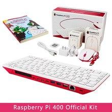 RaspberryPi 400 4 Гб Оперативная память 1,8G Cortex-A72 Процессор Встроенный Wi-Fi Bluetooth официальный SD карты Мощность адаптер видео кабель руководство для н...