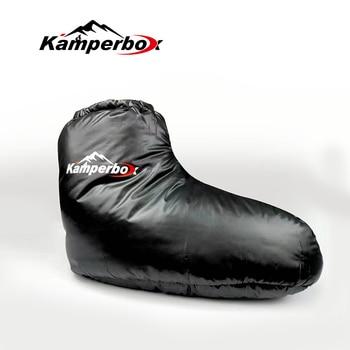 Kamperbox Down Sleeping Slippers Down Socks Camping Down Booties for Sleeping Bag Camping Socks AQ3