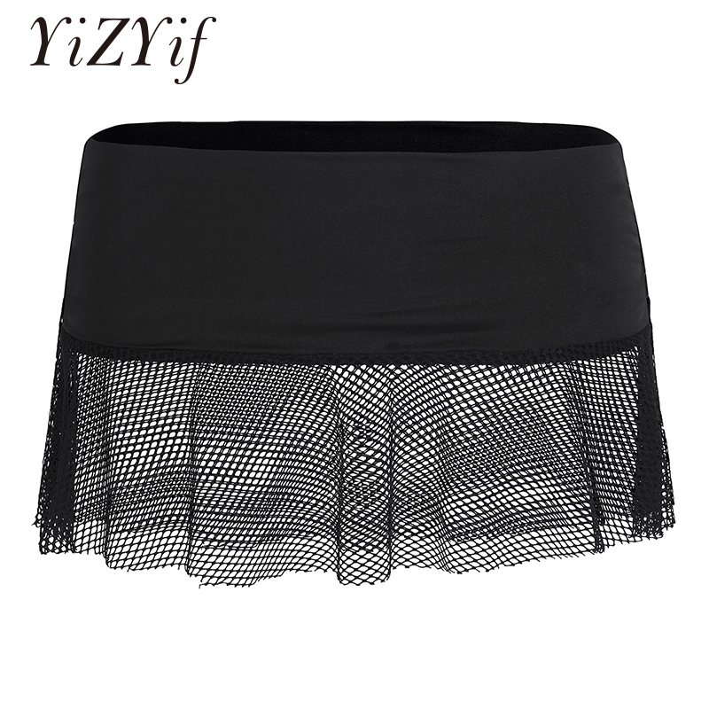 Sexy Frauen Mini Rock Damen Weiche Stretch Sehen-durch Mesh Netzs Low Rise Fishnet Mini Rock Micro Mini Rock dessous Frauen